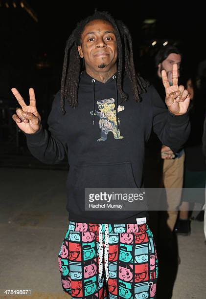 Rapper Lil Wayne speaks onstage at the 2014 mtvU Woodie Awards and Festival on March 13 2014 in Austin Texas