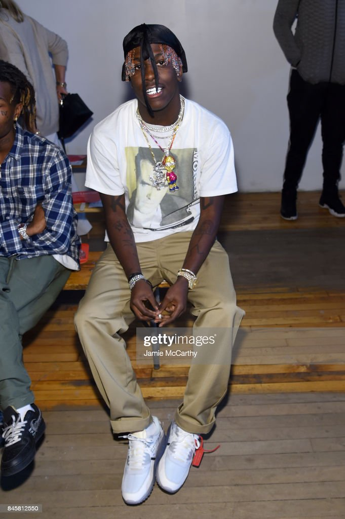Rapper Lil Yachty attends Helmut Lang Seen By Shayne Oliver fashion show during New York Fashion Week on September 11, 2017 in New York City.