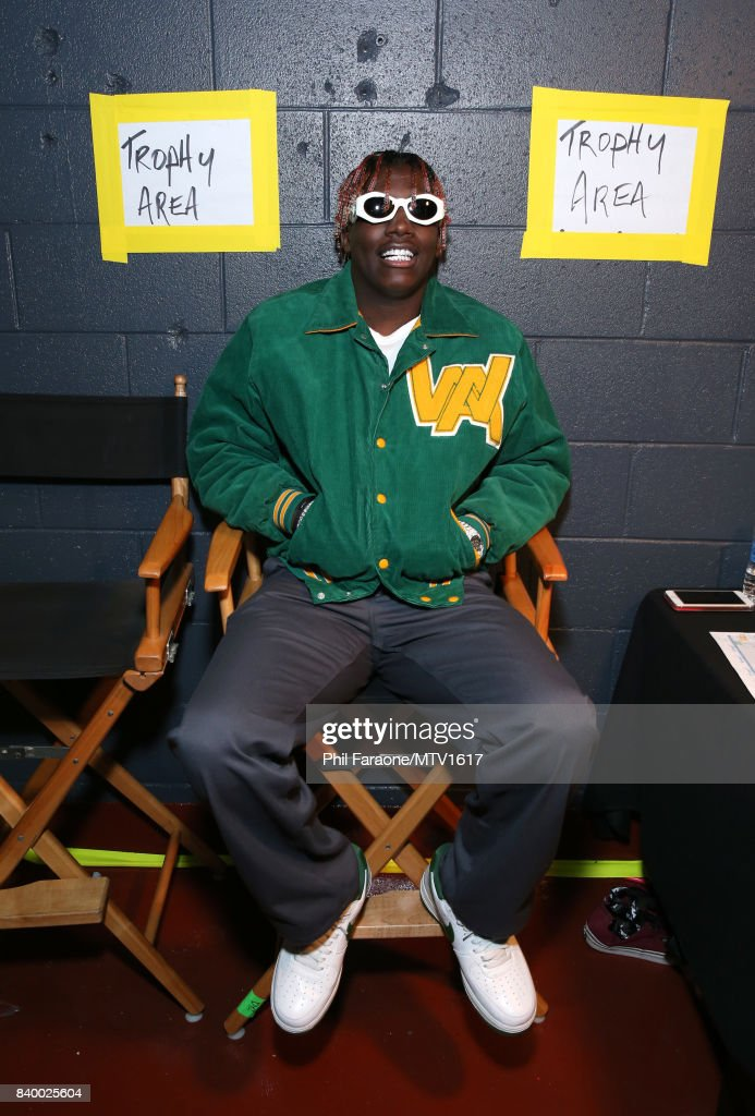 Rapper Lil Yachty backstage at the 2017 MTV Video Music Awards at The Forum on August 27, 2017 in Inglewood, California.