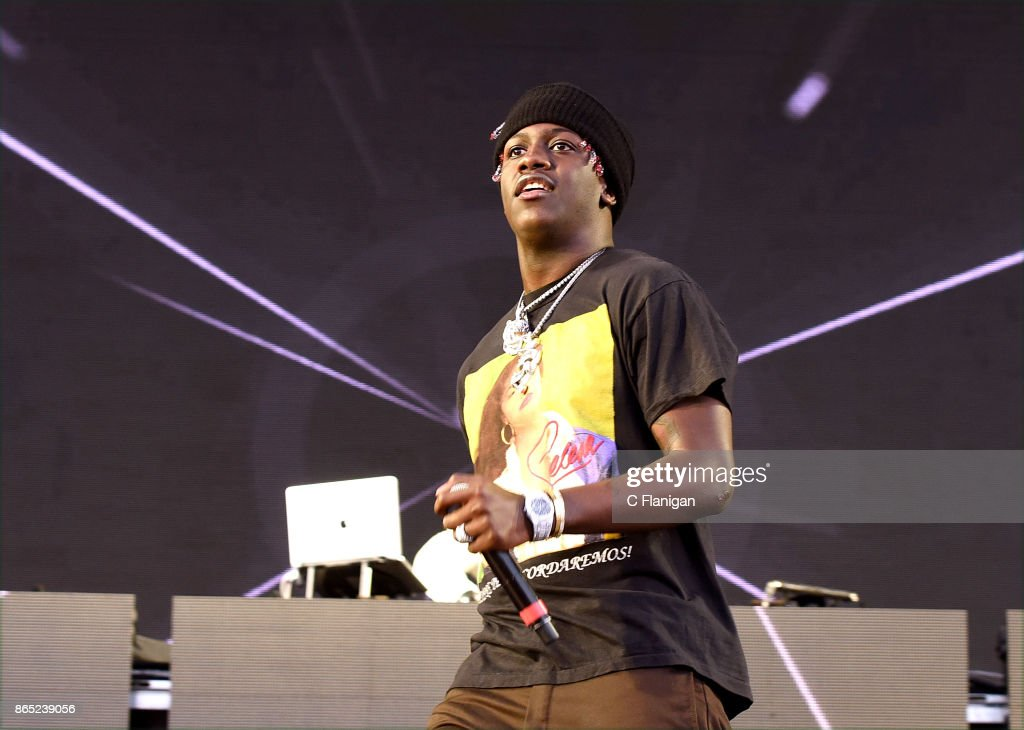 Rapper Lil Yachty performs during the Rolling Loud Festival at Shoreline Amphitheatre on October 22, 2017 in Mountain View, California.