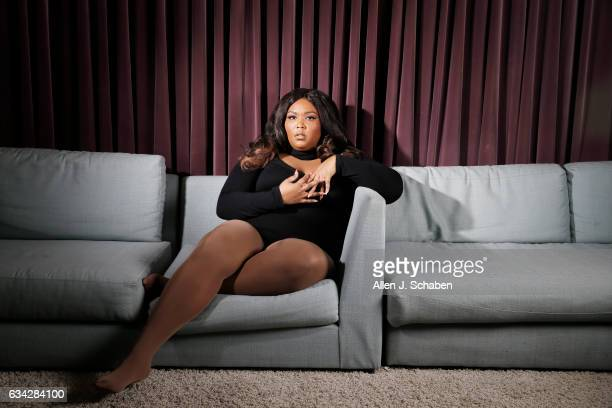 Rapper Lizzo is photographed for Los Angeles Times on December 17 2016 in Los Angeles California PUBLISHED IMAGE CREDIT MUST READ Allen J SchabenLos...