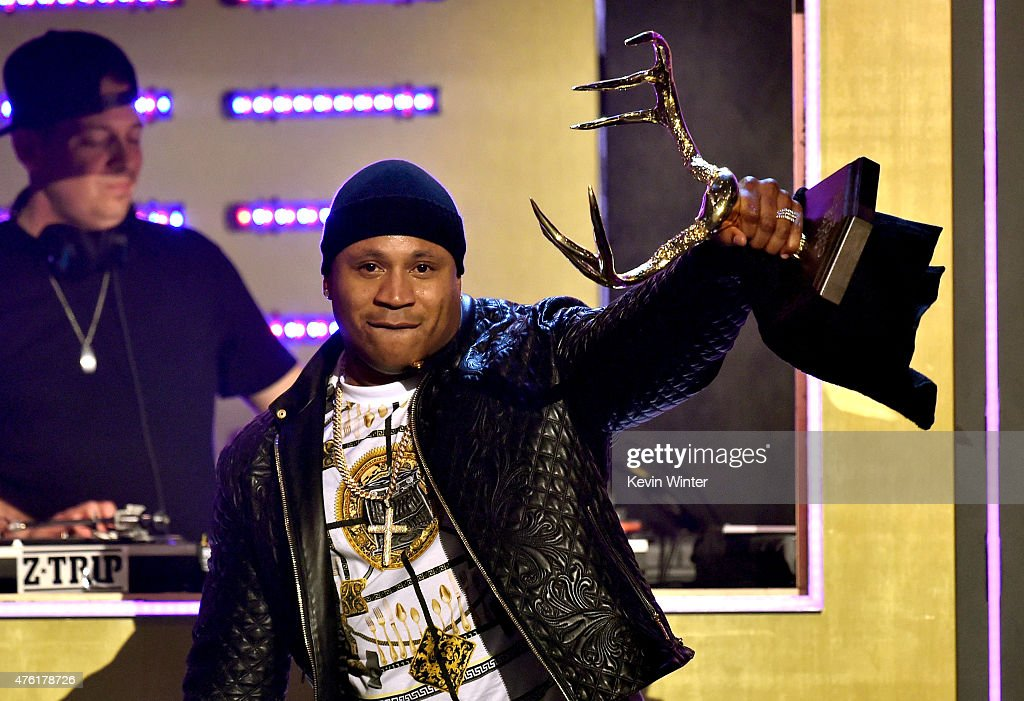 Rapper LL Cool J accepts the GOAT award onstage during Spike TV's Guys Choice 2015 at Sony Pictures Studios on June 6 2015 in Culver City California
