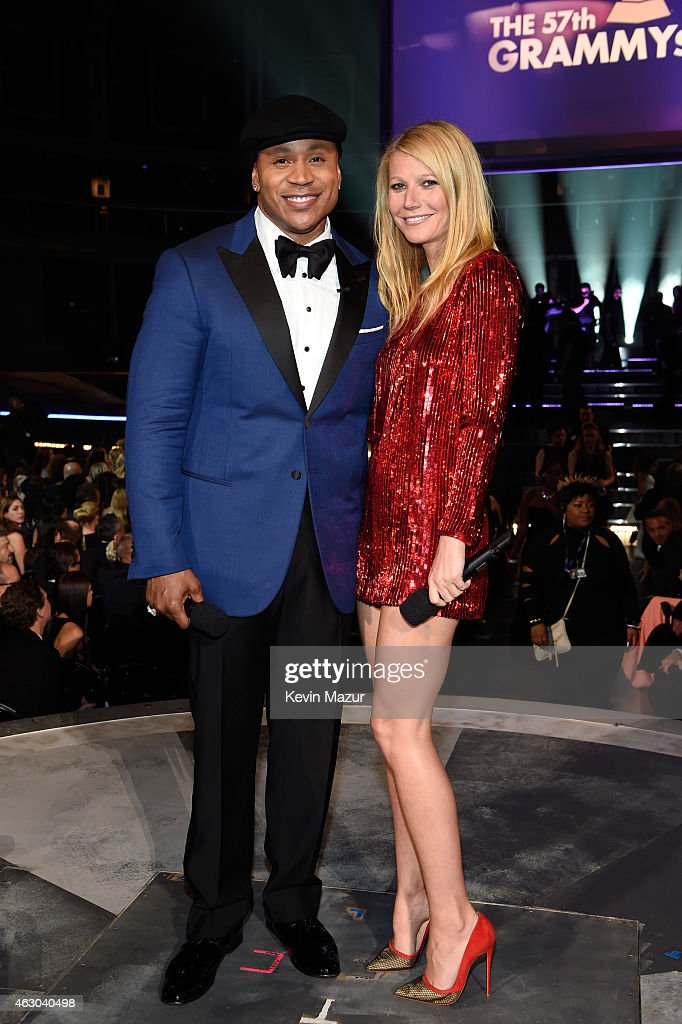 Rapper LL Cool J and actor Gwyneth Paltrow onstage during The 57th Annual GRAMMY Awards at the STAPLES Center on February 8 2015 in Los Angeles...