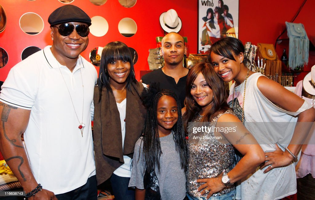 Rapper LL Cool J and his children Italia Smith Najee Smith Nina Smith his wife Simone I Smith and Samaria Smith attend Simone I Smith Jewelry Trunk...