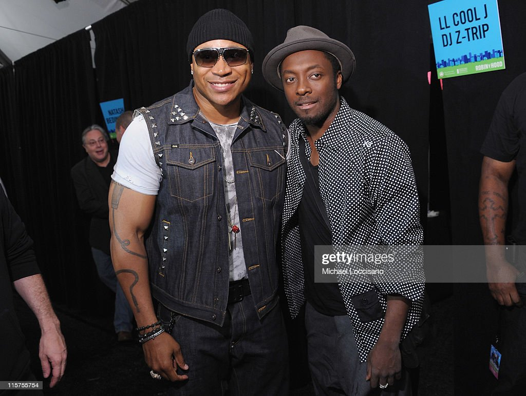 Rapper <a gi-track='captionPersonalityLinkClicked' href=/galleries/search?phrase=LL+Cool+J&family=editorial&specificpeople=201567 ng-click='$event.stopPropagation()'>LL Cool J</a> (L) and singer will.i.am of the Black Eyed Peas attend the Black Eyed Peas and Friends Concert for NYC to Benefit the Robin Hood Foundation at Central Park, Great Lawn on June 9, 2011 in New York City.