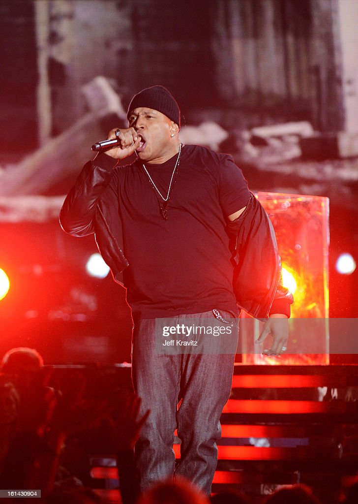 Rapper LL Cool J performs onstage at the 55th Annual GRAMMY Awards at Staples Center on February 10, 2013 in Los Angeles, California.