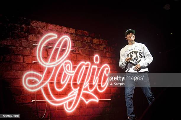 Rapper Logic performs during The Endless Summer Tour With Yo Gotti GEazy Logic YG at Barclays Center of Brooklyn on July 26 2016 in the Brooklyn...