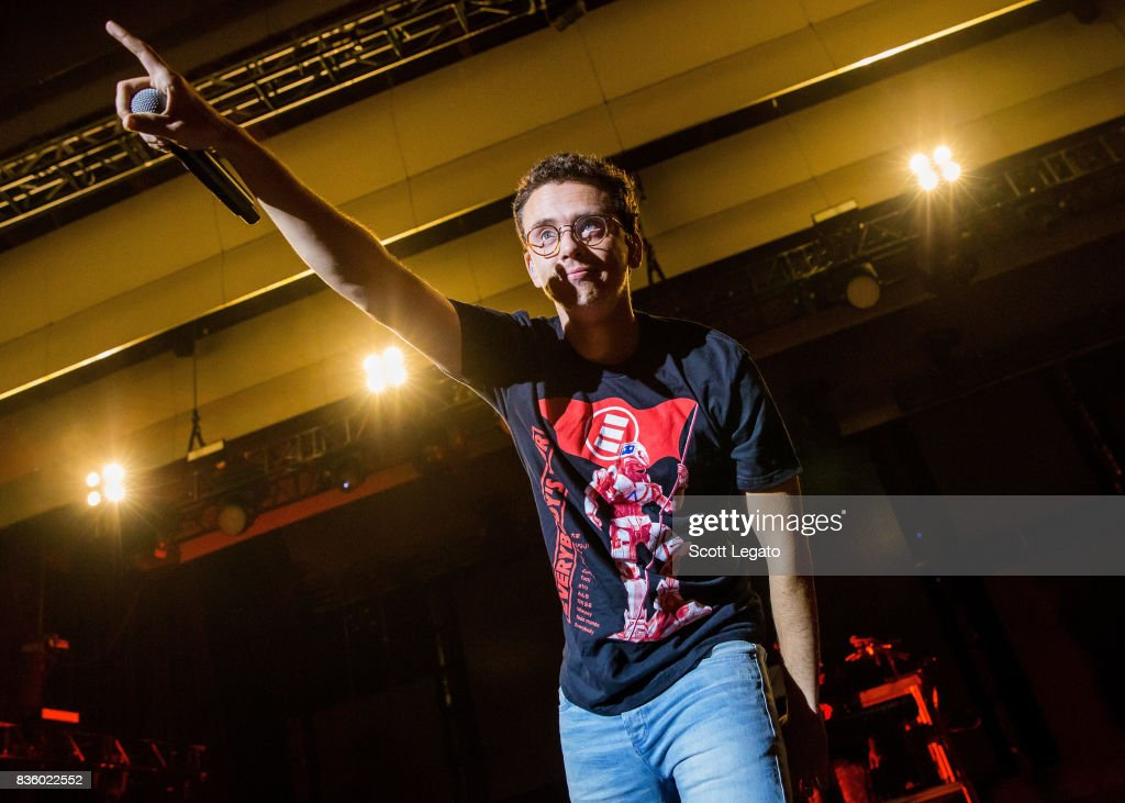 Rapper Logic performs in support of the Everybody's Tour at Meadow Brook Music Festival on August 20, 2017 in Rochester, Michigan.