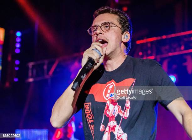 Rapper Logic performs in support of the Everybody's Tour at Meadow Brook Music Festival on August 20 2017 in Rochester Michigan