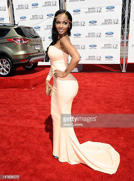 Rapper Lola Monroe attends the 2012 BET Awards at The Shrine Auditorium on July 1 2012 in Los Angeles California