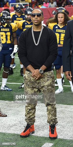 Rapper Ludacris attends the 2014 Atlanta Football Classic at Georgia Dome on October 4 2014 in Atlanta Georgia