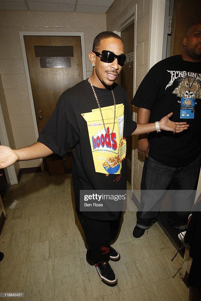 Rapper Ludacris backstage at the BET Hip Hop Awards 2007 at the Atlanta Civic Center on October 13 2007 in Atlanta GA