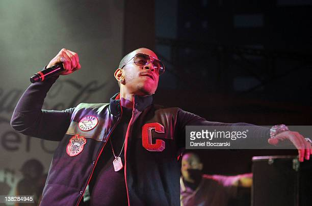 Rapper Ludacris performs at The Maxim Party featuring The Coke Zero Countdown presented by Patron Tequila at Indiana State Fairgrounds on February 4...
