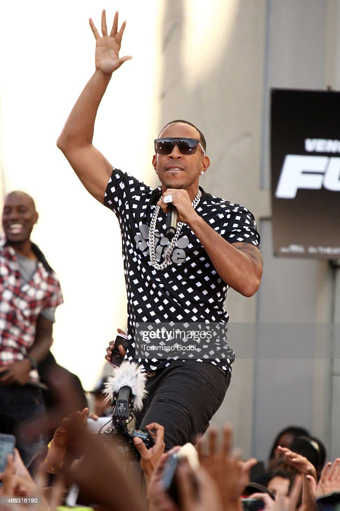 Rapper Ludacris performs at the Revolt Live hosts exclusive 'Furious 7' takeover with musical performances from the official movie soundtrack held at Revolt Live Studios on April 1, 2015 in Hollywood, California.