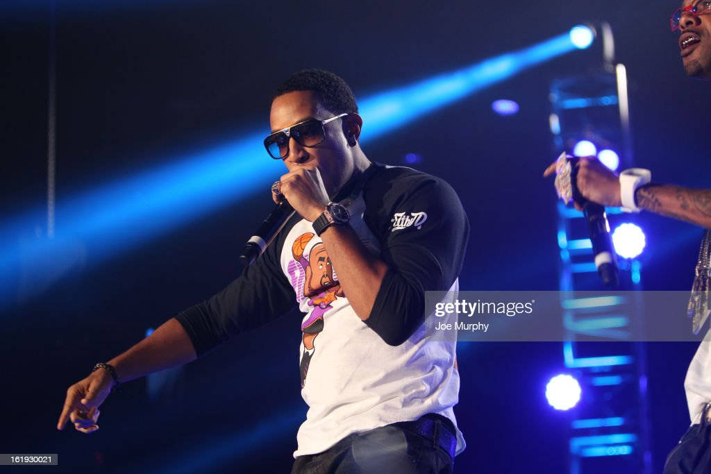 Rapper Ludacris performs during the Sprint NBA All-Star Pregame Concert in Sprint Arena during the NBA All-Star Weekend on February 17, 2013 at the George R. Brown Convention Center in Houston, Texas.