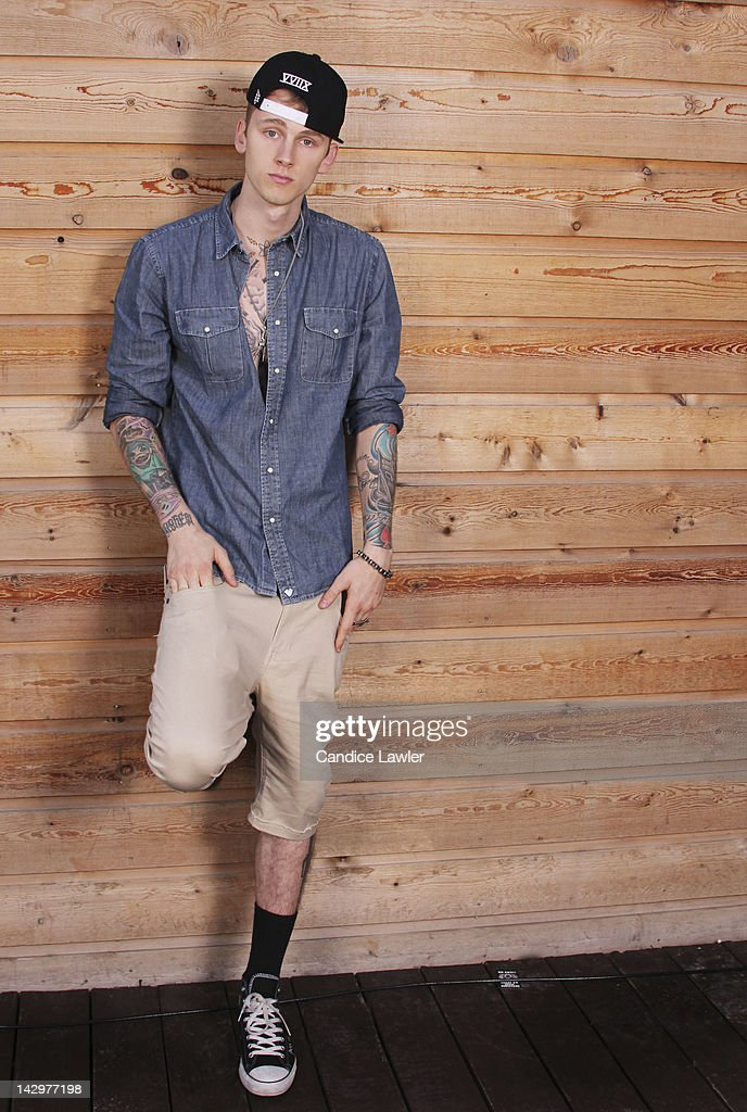 Rapper Machine Gun Kelly, also known as MGK, is photographed for BET.com on March 15, 2012 in Austin, Texas.