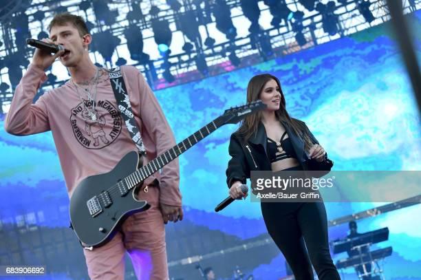 Rapper Machine Gun Kelly and singer Hailee Steinfeld perform at 1027 KIIS FM's 2017 Wango Tango at StubHub Center on May 13 2017 in Carson California