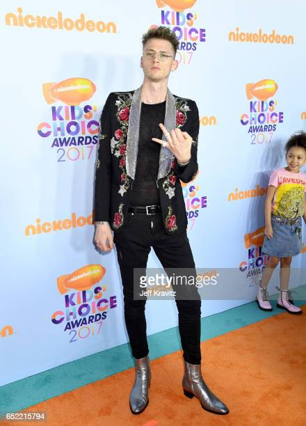 Rapper Machine Gun Kelly at Nickelodeon's 2017 Kids' Choice Awards at USC Galen Center on March 11 2017 in Los Angeles California