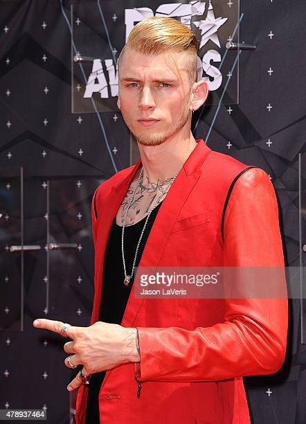 Rapper Machine Gun Kelly attends the 2015 BET Awards at the Microsoft Theater on June 28 2015 in Los Angeles California