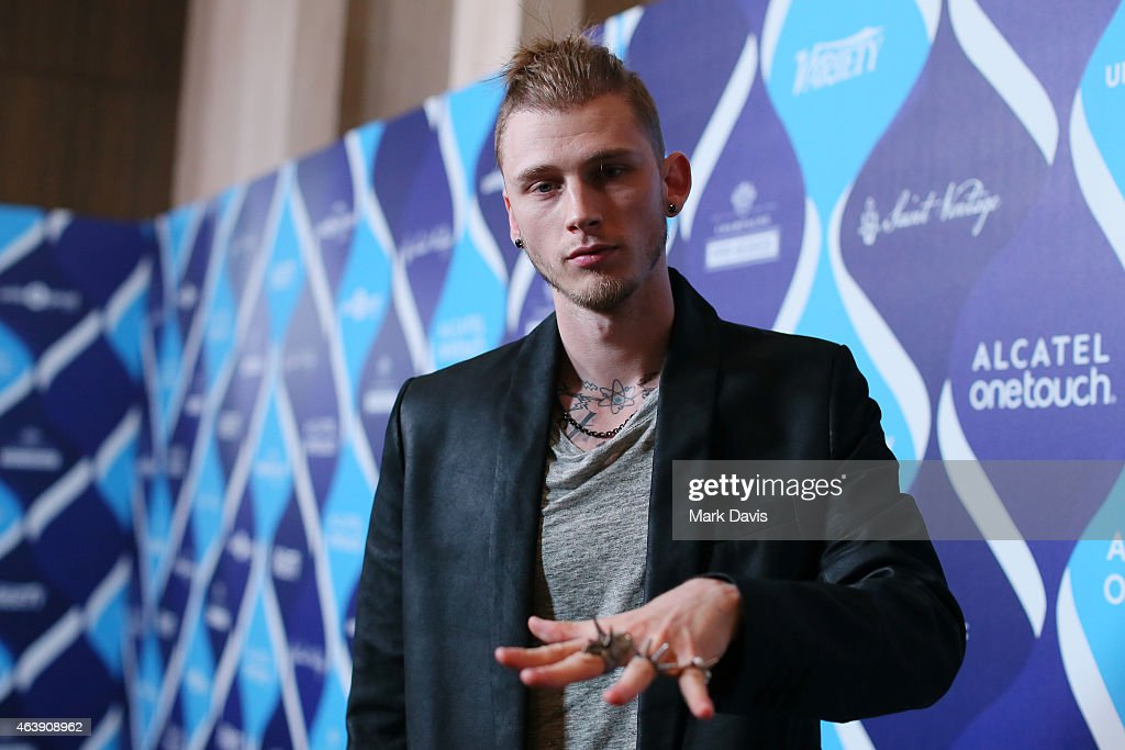 Rapper Machine Gun Kelly attends the 2nd Annual unite4humanity Presented By ALCATEL ONETOUCH at the Beverly Hilton Hotel on February 19 2015 in Los...