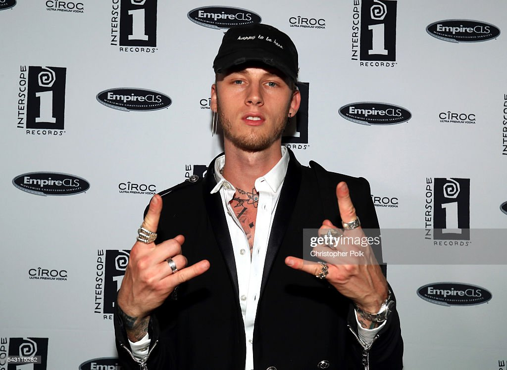 Rapper Machine Gun Kelly attends the Interscope BET Party at The Reserve on June 25 2016 in Los Angeles California