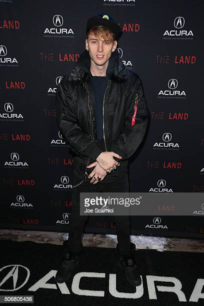 Rapper Machine Gun Kelly attends 'The Land' party at The Acura Studio at Sundance Film Festival 2016 on January 25 2016 in Park City Utah
