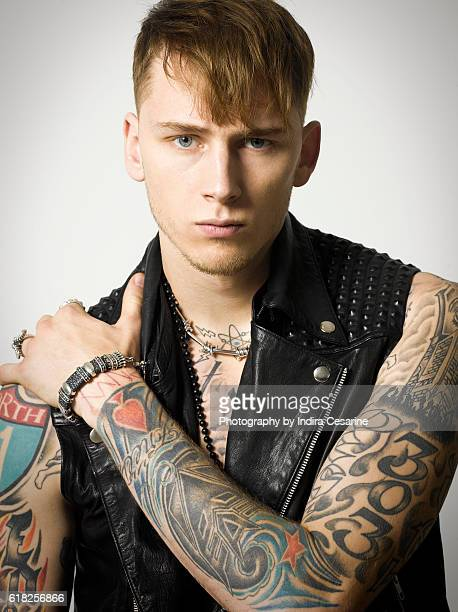 Rapper Machine Gun Kelly is photographed for The Untitled Magazine on January 28 2013 in New York City CREDIT MUST READ Indira Cesarine/The Untitled...