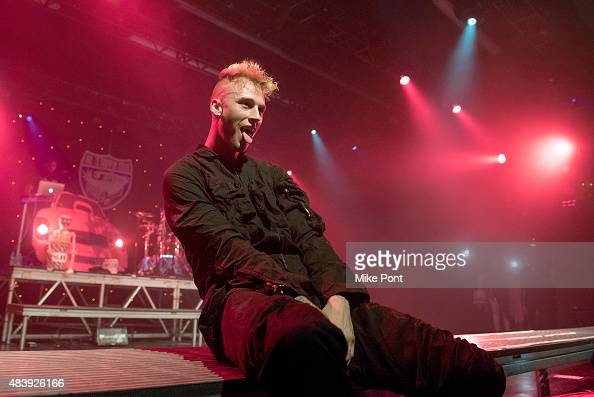 Rapper Machine Gun Kelly performs in concert at Best Buy Theater on August 13 2015 in New York City