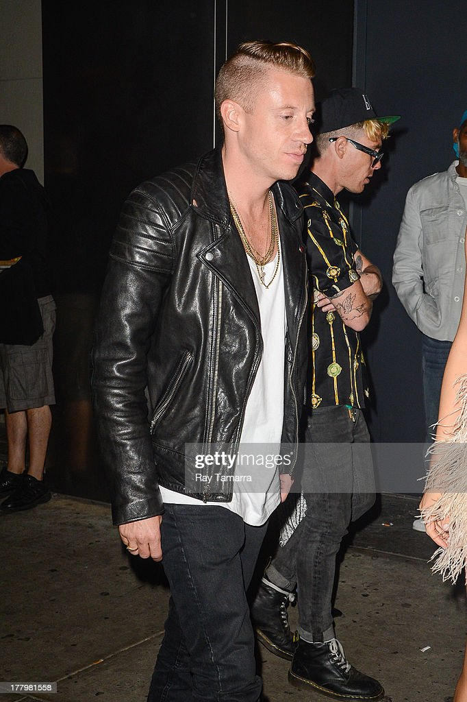 Rapper Macklemore enters the Dream Downtown hotel on August 25, 2013 in New York City.