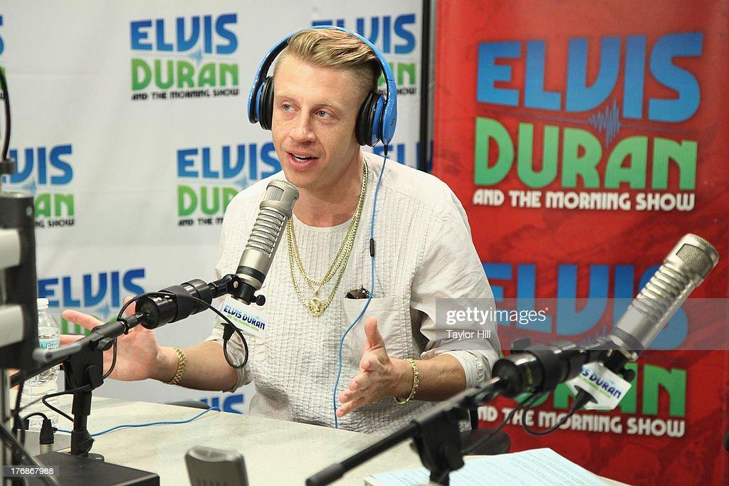 Rapper Macklemore visits 'The Elvis Duran Z100 Morning Show' at Z100 Studio on August 16, 2013 in New York City.
