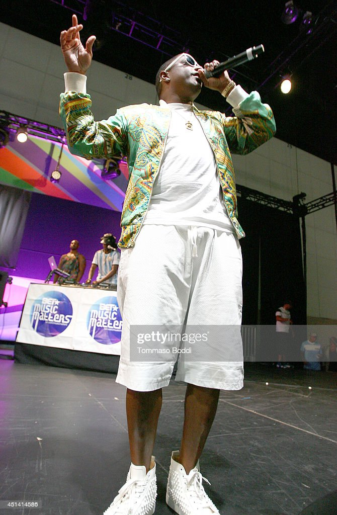 Rapper Ma$e performs onstage at the Music Matters presented by Nissan during the 2014 BET Experience At L.A. LIVE on June 28, 2014 in Los Angeles, California.
