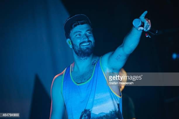 Rapper Marteria performs live on stage during 'Die Neuen Deutschpoeten Open Air Festival' at IFA Sommergarten on September 6 2014 in Berlin Germany