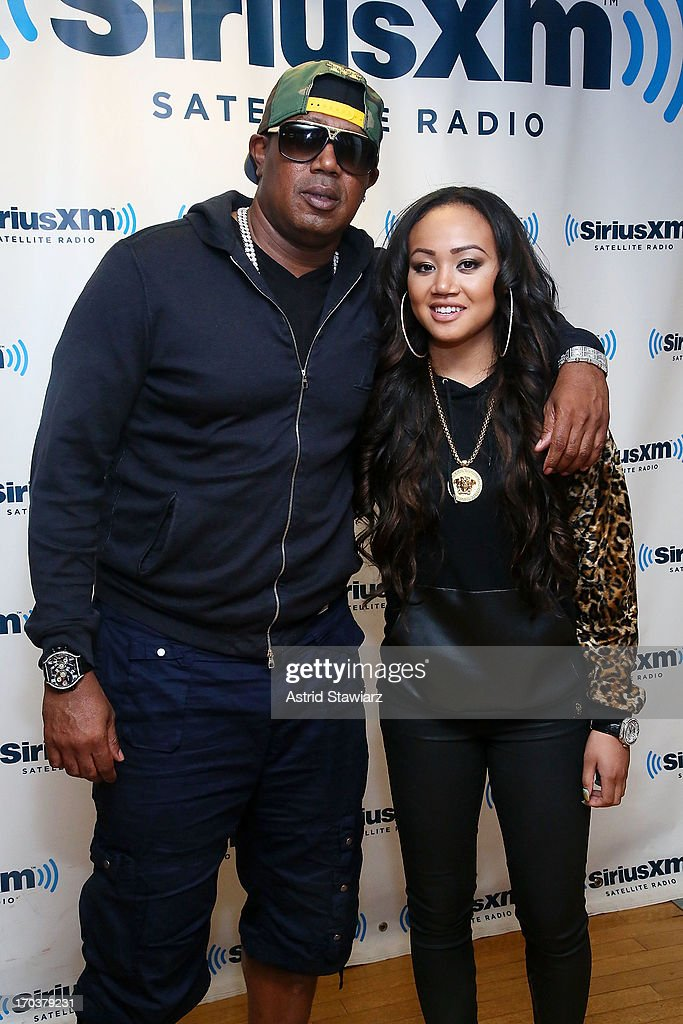 Rapper Master P and daughter Cymphonique Miller visit the SiriusXM Studios on June 12, 2013 in New York City.