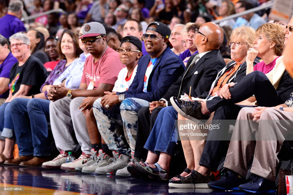 Rapper Master P attends the game between the Atlanta Dream and the Phoenix Mercury on September 3, 2017 at Talking Stick Resort Arena in Phoenix, Arizona.