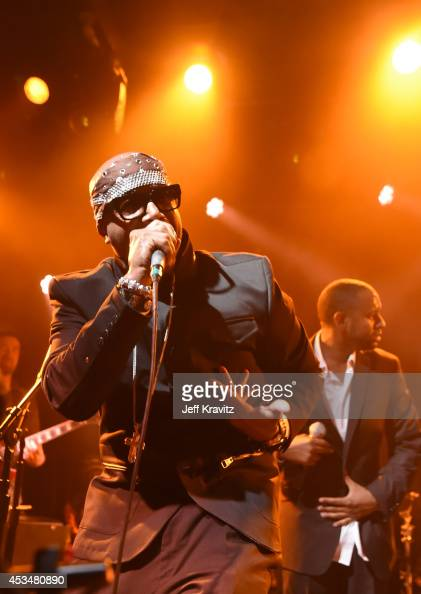 Rapper MC Hammer performs onstage at the Outside Lands Kool the Gang Superjam at The Independent on August 10 2014 in San Francisco California