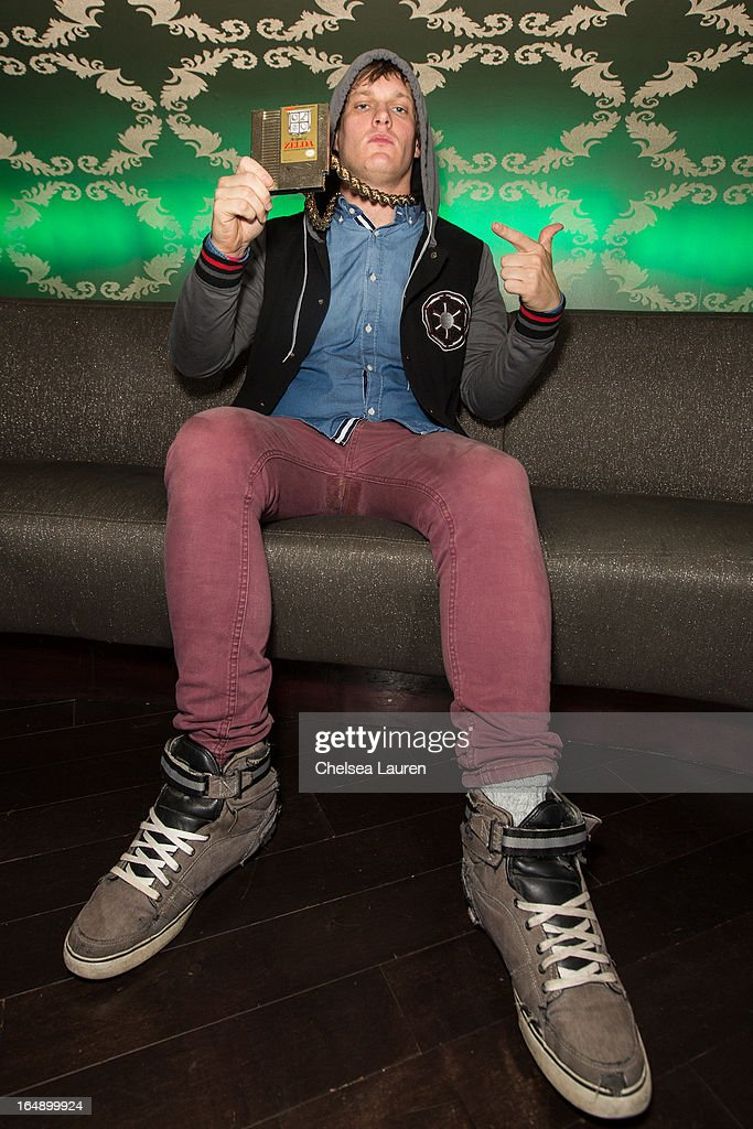 Rapper MC Lars attends the Vans Warped Tour press conference and kick-off party at Club Nokia on March 28, 2013 in Los Angeles, California.