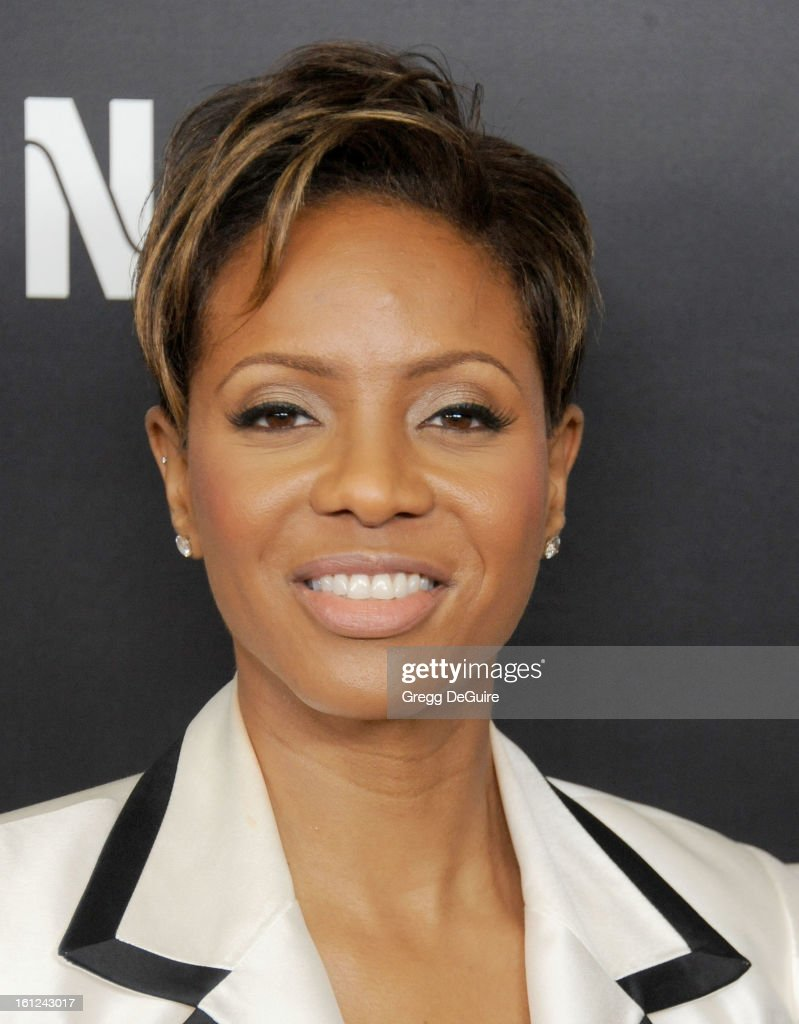 Rapper MC Lyte arrives at Roc Nation Pre-GRAMMY brunch at Soho House on February 9, 2013 in West Hollywood, California.