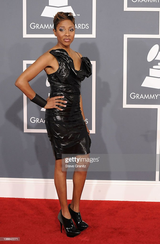 Rapper MC Lyte arrives at The 54th Annual GRAMMY Awards at Staples Center on February 12, 2012 in Los Angeles, California.