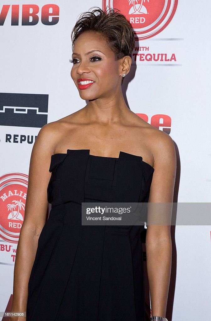 Rapper MC Lyte attends VIBE Magazine's 20th anniversary celebration with inaugural impact awards - Arrivals at Sunset Tower on February 8, 2013 in West Hollywood, California.