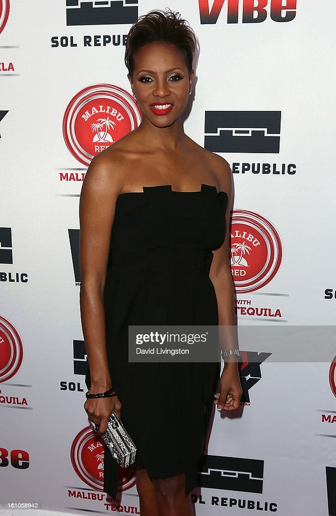 Rapper MC Lyte attends VIBE's 20th Anniversary Celebration and Inaugural Impact Awards at the Sunset Tower Hotel on February 8, 2013 in West Hollywood, California.