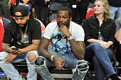 Celebrities At The Golden State Warriors v Los Angeles...
