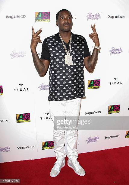 Rapper Meek Mill attends the Atlantic Records 2015 BET Awards after party at HYDE Sunset Kitchen Cocktails on June 28 2015 in West Hollywood...