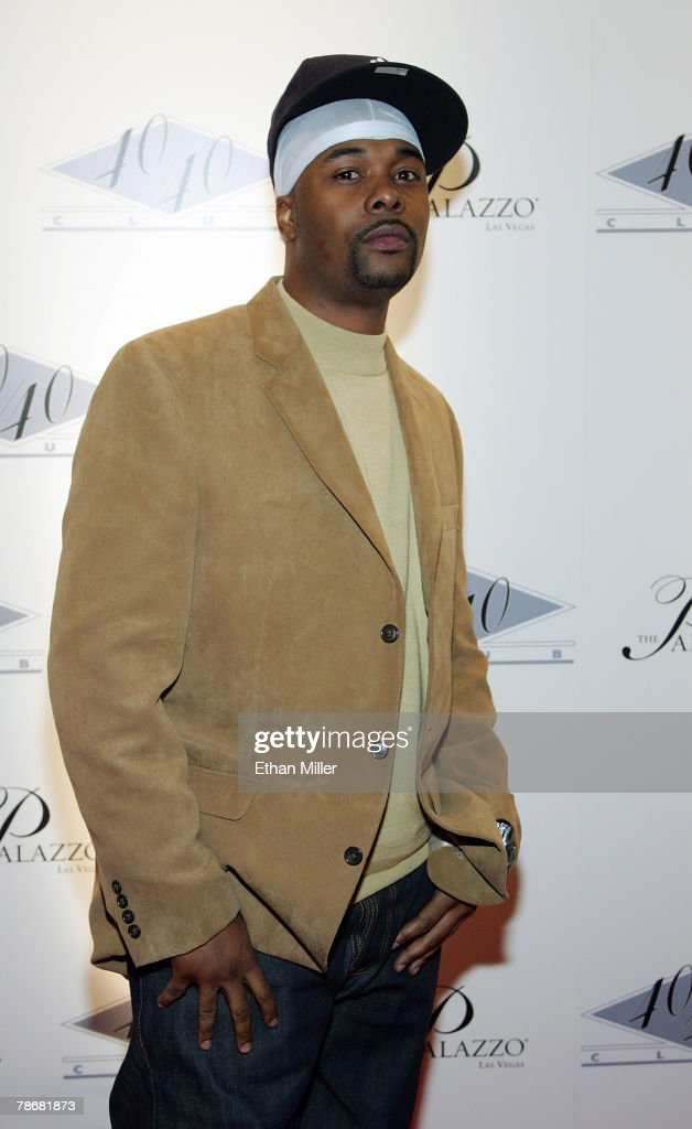 Rapper Memphis Bleek arrives at the opening of Jay-Z's USD 20 million 40/40 Club, a 24,000-square-foot sports bar and lounge at The Palazzo Resort-Hotel-Casino December 30, 2007 in Las Vegas, Nevada.