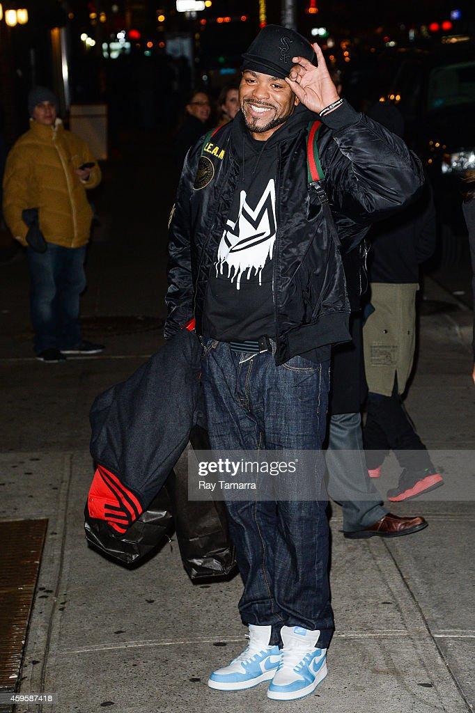 Rapper Method Man of WuTang Clan leaves the 'Late Show With David Letterman' taping at the Ed Sullivan Theater on November 25 2014 in New York City