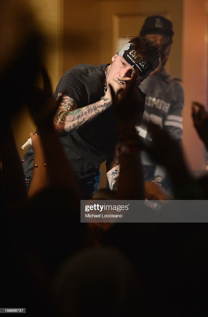 Rapper MGK performs during BET's 106 And Park 2013 New Years Eve Party at BET Studios on December 17, 2012 in New York City.