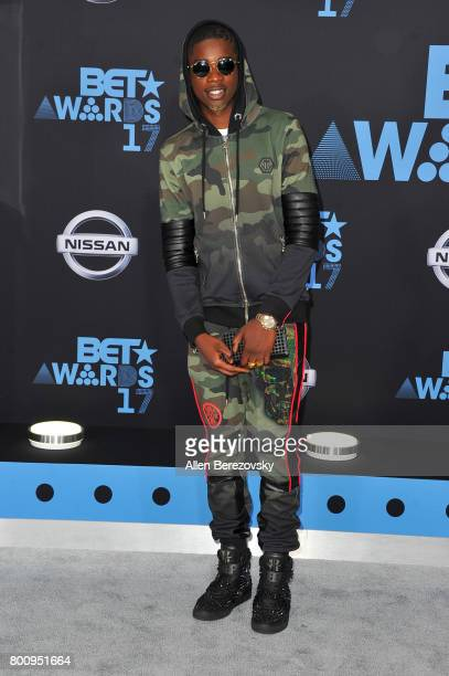 Rapper MHD arrives at the 2017 BET Awards at Microsoft Theater on June 25 2017 in Los Angeles California