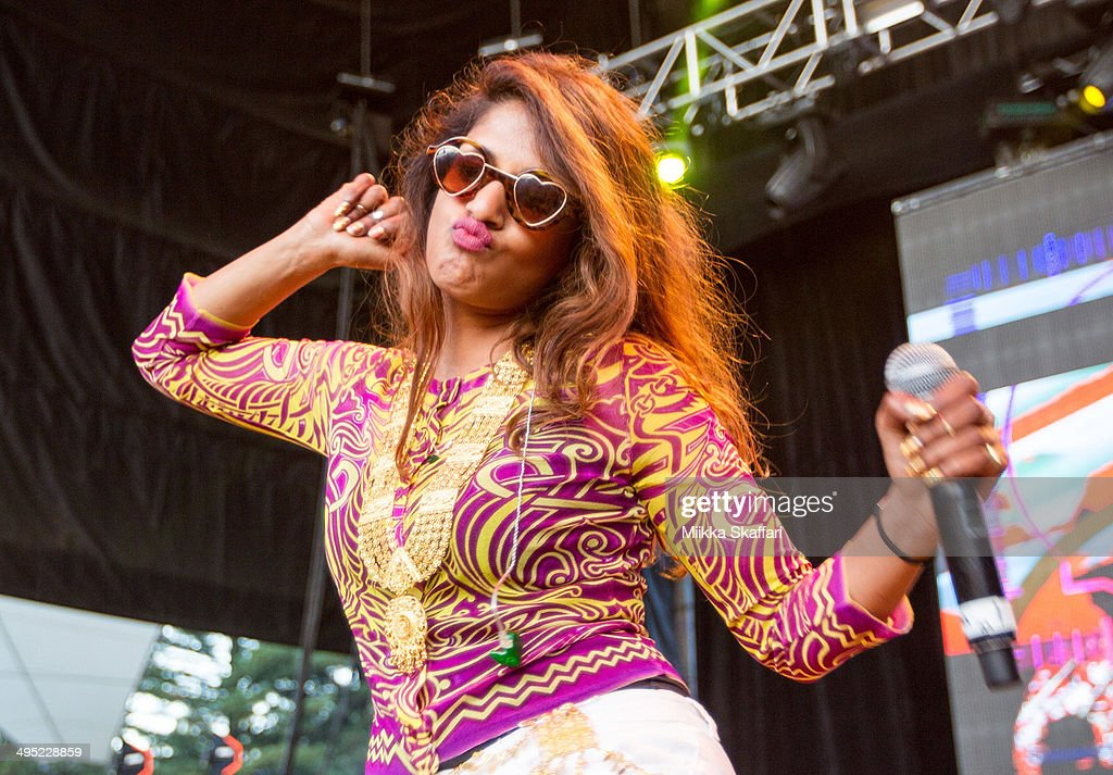 Rapper <a gi-track='captionPersonalityLinkClicked' href=/galleries/search?phrase=M.I.A.&family=editorial&specificpeople=2211092 ng-click='$event.stopPropagation()'>M.I.A.</a> performins at Live 105 BDF on June 1, 2014 in Mountain View, California.