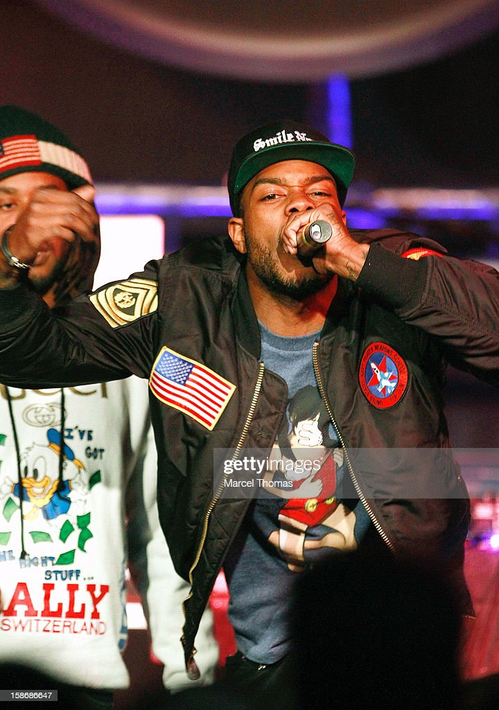 Rapper Mibbs of the rap group Pac Div performs at the Hard Rock Cafe on December 22, 2012 in Las Vegas, Nevada.