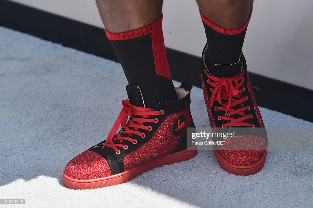 Rapper Milan Christopher, shoe detail, attends the 2016 BET Awards at the Microsoft Theater on June 26, 2016 in Los Angeles, California.