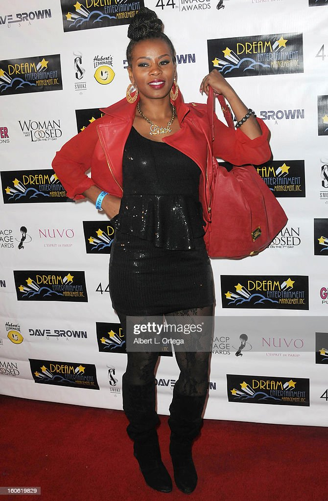 Rapper Ms Toi arrives for the NAACP Image Awards Nomination Party featuring 'Woman Thou Art Loosed On THe 7th Day' for Best Independent Motion Picture held at Smoke on January 26, 2013 in West Hollywood, California.
